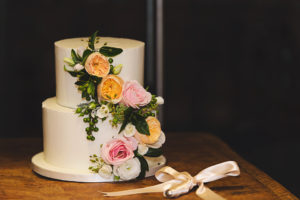 Wedding cake photographed by Kylie Cornwell